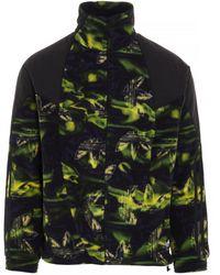 adidas Originals Big Trefoil Printed Polar Fleece Track Jacket - Multicolor