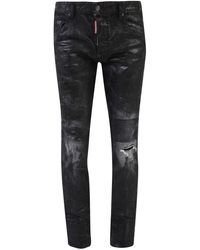 DSquared² Cropped Skinny Jeans - Black