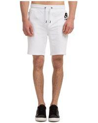 Karl Lagerfeld Logo Printed Sweat Shorts - White