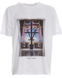 Craig Green Graphic Printed Crewneck T-shirt - White