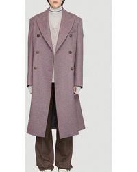 Maison Margiela Double Breasted Coat - Purple