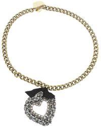 Lanvin Heart Pendant Necklace - Metallic