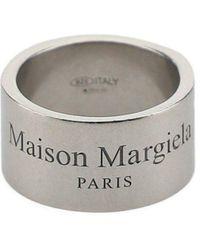 Maison Margiela Engraved Logo Ring - Xs / Silver - Metallic