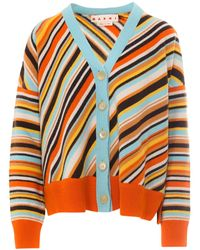 Marni Striped Cardigan - Orange