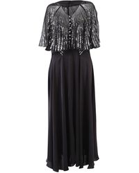 Paco Rabanne Sequins Embellished Maxi Dress - Black