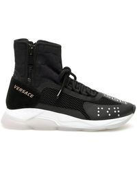 Versace Cross Chainer Sneakers - Black