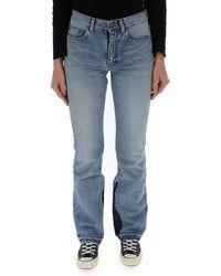 Saint Laurent - Flared Contrast Jeans - Lyst