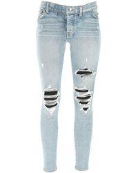 Amiri Ripped Skinny Fit Jeans - Blue
