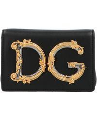 Dolce & Gabbana Baroque Logo Belt Bag - Black