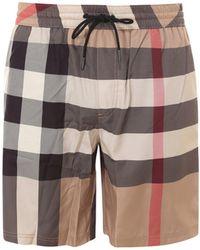 Burberry Check Drawcord Swim Shorts - Multicolor
