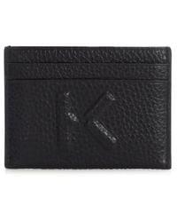 KENZO Card Holder With Logo - Black