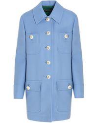 Dolce & Gabbana Single Breasted Coat - Blue