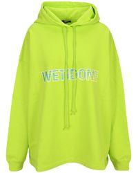 we11done Logo Printed Oversized Hoodie - Green