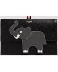 Thom Browne Animal Icon Clutch Bag - Black