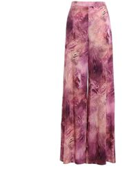 Moschino Printed Wide Leg Trousers - Multicolour