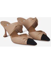 Aquazzura Twist Mule 75 Court Shoes - Natural