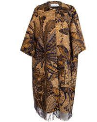 Dior Tropicalia Toile De Jouy Opera Coat - Brown