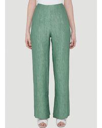 Nanushka Tabbie Pleated Trousers - Green