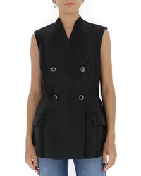 Givenchy Double Breasted Vest - Black