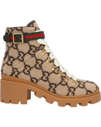 Gucci GG Logo Boots - Brown