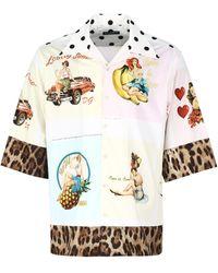 Dolce & Gabbana - Graphic Print Short-sleeve Shirt - Lyst