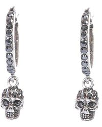 Alexander McQueen Hoop Skull Earrings - Metallic