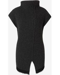 The Row Asymmetric Sleeveless Jummper - Grey