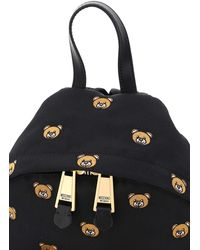 Moschino Teddy Bear Embroidery Back Pack Os Technical - Black