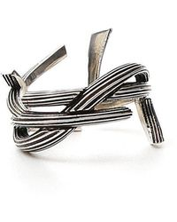 Saint Laurent - Interlaced Monogram Ring - Lyst