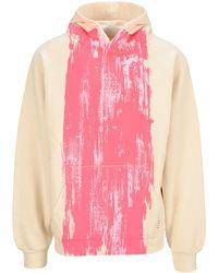 Marni Paint Stripe Hoodie - Pink
