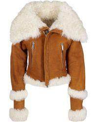 DSquared² Wide-collar Biker Jacket - Brown