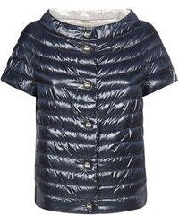 Herno Short Sleeve Down Jacket - Blue