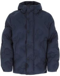 Dolce & Gabbana Quilted Hooded Coat - Blue