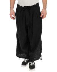 1317b6f6dd7 Yohji Yamamoto Black Suspender Pant in Black for Men - Lyst