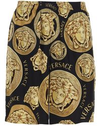 Versace Medusa Print Track Shorts - Multicolour