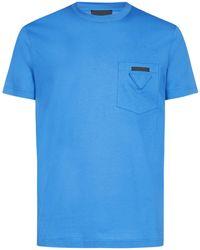 Prada Three-pack Pocket Detail T-shirt - Blue