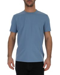 Prada Crew Neck Fitted T-shirt - Blue