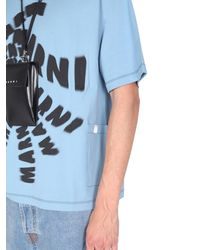 Marni Crew Neck T-shirt - Blue