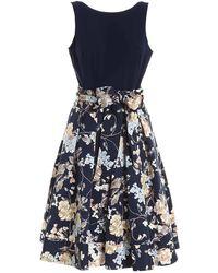 Polo Ralph Lauren Floral Panelled Sleeveless Dress - Blue