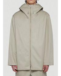 Jil Sander Hooded Technical Jacket - Grey