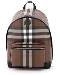 Burberry Jett Tartan Backpack - Brown