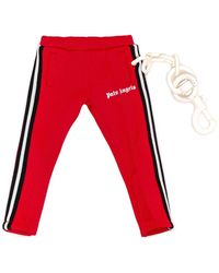 Palm Angels Mini Track Trousers Keyring - Red