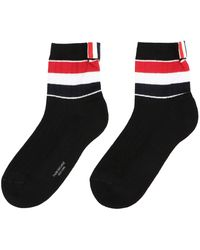 Thom Browne Athletic Striped Socks - Black