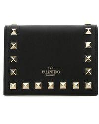 Valentino Garavani Rockstud Small Wallet - Black