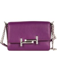 Tod's - Double T Leather Shoulder Bag - Lyst