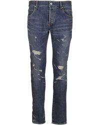 Balmain Distressed-effect Jeans - Blue