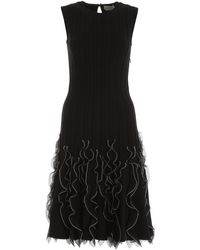 Alexander McQueen Ruffled Dress - Black