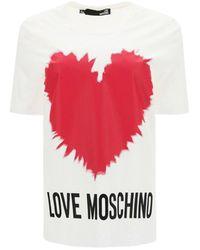 Love Moschino Heart T-shirt - White