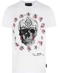 Philipp Plein Stars And Skulls T-shirt - White
