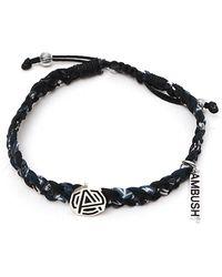 Ambush Monogram Braided Bracelet - Black